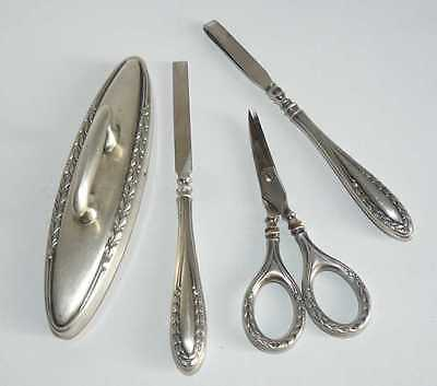 Antique Silver 800 MANICURE SET