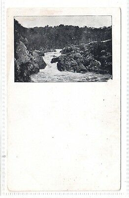 POSTCARD = WATERFALL SCENE but no details. EARLY CARD