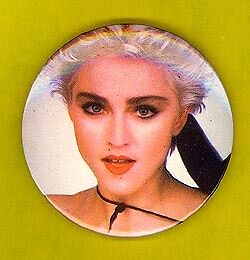Madonna 1990 UK large badge button pinback CC