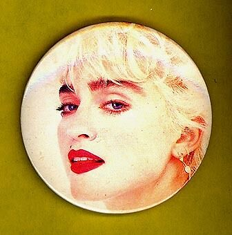 Madonna 1990 UK large badge button pinback EE