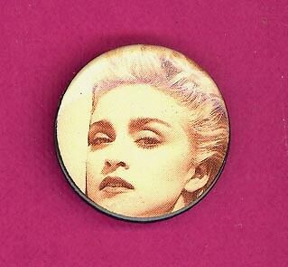 Madonna 1990 UK petite badge button pinback DD