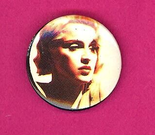 Madonna 1990 UK petite badge button pinback T
