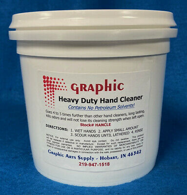 Hand Cleaner Best Heavy Duty Removes Virtually All Inks & Grime 1/2 Gallon