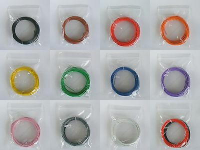 10m 1/0.6mm - 22-23 AWG Solid Core Equipment Wire - 11 Colours or 5m Black/5mRed