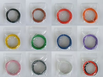 10m 1/0.6mm Equipment Wire 22-23 AWG Single Solid Copper Core 11 Colours WP-0104