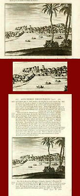 Antique Print - Voc- City Of Broitschia - India - 1727