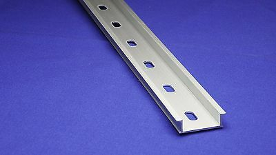 14pcs 2 Meter Aluminum Slotted DIN Rail Heavy Weight, 35mm x 10mm, 1.5mm Thick