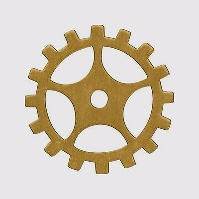 "36 Solid BRASS Sprockets Gears ~ 19mm 3/4"" ~SteamPunk Altered Art ~MAde in USA"