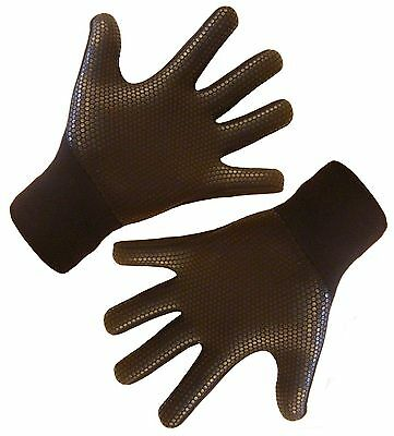 Entry level wetsuit gloves, titanium 3mm neoprene, grippy palms, warm & stretchy