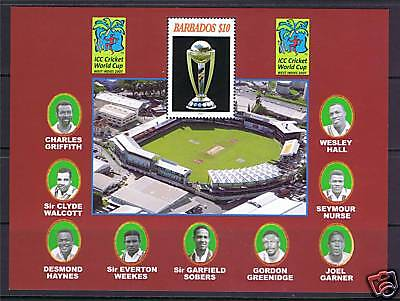 Barbados 2007 Cricket World Cup M.S. MNH