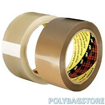 QUALITY PARCEL / PACKING TAPE 3M SCOTCH & PRINTED TAPES 48mm x 66m LONG
