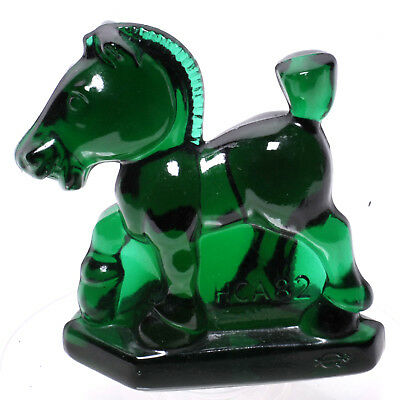 Heisey Oscar Sparky Horse By Imperial In Emerald Green