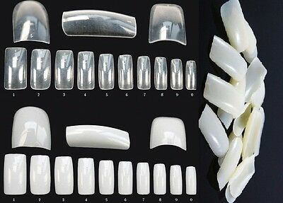 500 Capsules Tips Faux Ongles, Naturel, Transparent Gel Uv Nail Art Livre 24-48H