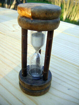"vintage wooden egg timer glass vial  ""kitchen classic"""