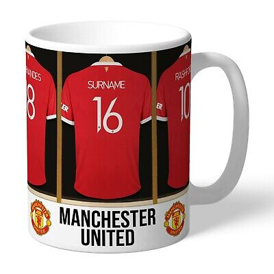 Personalised MANCHESTER UNITED Man Utd Football Club FC Dressing Room Mug Gift