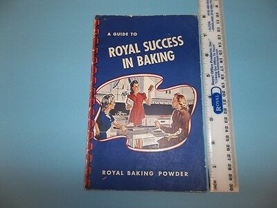 HS859 Vintage Royal Baking Powder Success In Baking Recipe How To Booklet 1942