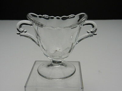 "Heisey Waverly Individual Open Sugar Footed Clear Crystal 2 7/8"" T ca 1947-1957"