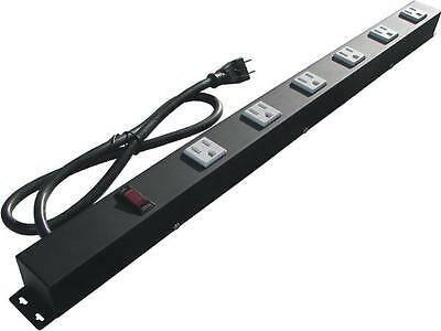 "24"" Metal Power Strip with 6 Outlets, Surge Protected 2063"