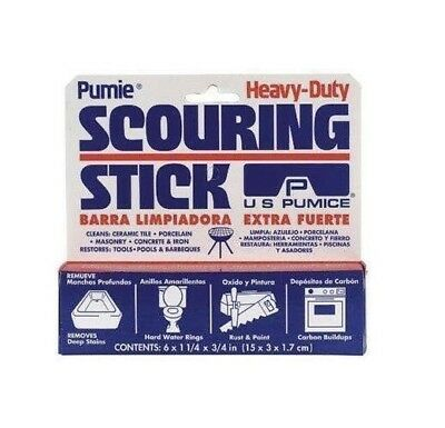 1 New Pumie Heavy-Duty Scouring Stick Bar Remove Deep Stains Toilet Sink Usa