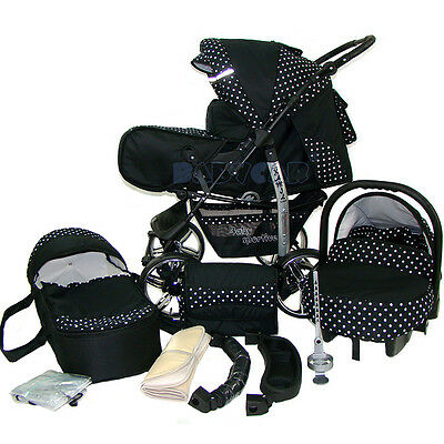 New Baby Pram Child Stroller - Pushchair + Car Seat - Carrycot 3in1 - buggy bag