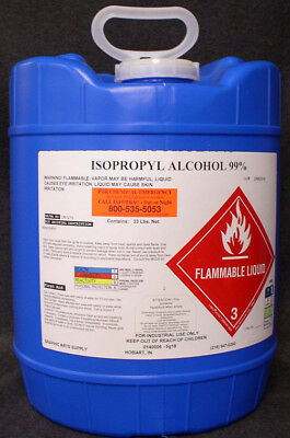 Isopropyl Alcohol 99.8% - No Ups Hazmat Fee!  New 5 Gallon Pail
