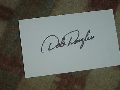 Dale Douglass Golfer Signed 3x5 index Card
