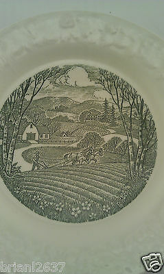 "VINTAGE PASTORAL TAYLOR SMITH & TAYLOR COLLECTOR PLATE 6 1/2"" WHITE & GREEN"