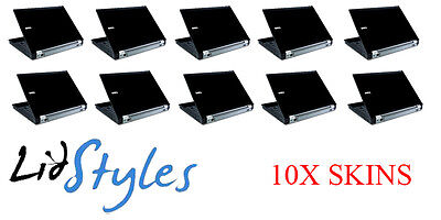LidStyles Lot of 10 BLACK Laptop Skin Decal fits Dell Latitude E6400 E6410