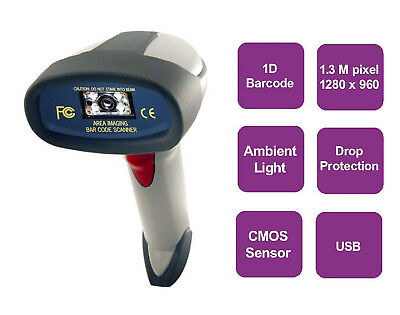 TS-5208 Hand-held Extra Long Range CCD Barcode Scanner Commercial Heavy Duty NEW