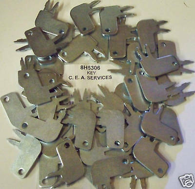 (50) 8H5306 Master Disconnect & Old Igniton Keys Fits Cat Caterpillar Equipment