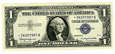 USA SILVER CERTIFICATE  P-419b 1 DOLLAR  (1957-B) *UNC*!!! REPLACEMENT !!