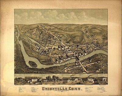 Connecticut Vintage Panoramic Maps Collection On Cd