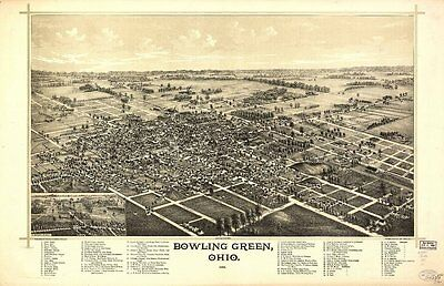 Ohio Vintage Panoramic Maps Collection On Cd