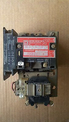Square D Lighting Contactor Class 8903 Type SMG-13 Series A 30 Amp 3 pole SMG13
