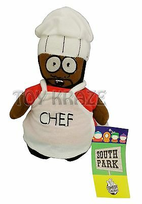 "South Park Chef Plush! Small Soft Stuffed Doll Toy Figure Licensed 7""-8"" New"