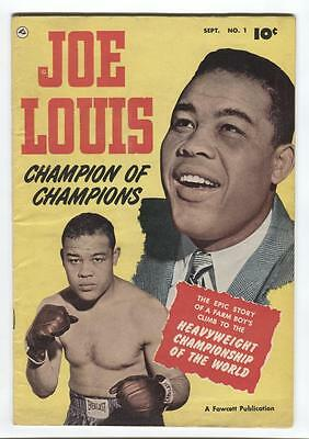 Joe Louis #1 Fawcett Publ. 1950 Boxing Champion , Photo Cover - Life Story !