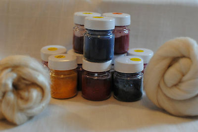 All in one Acid Dyes choose from 23 colours for wool, silk and animal fibres