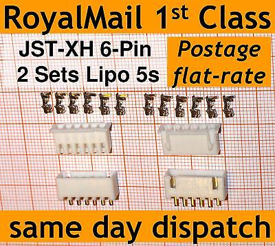 2x JST-XH connector plug (Male, Female, Crimps) 6-Pin: Lipo 5s Balance Extension