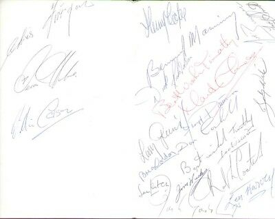 FLOYD PATTERSON / LEN HARVEY (1965 Boxing Menu signed by 20) SIGNED AUTOGRAPHS