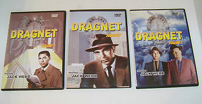Dragnet Jack Webb Volumes 1,2 & 3 (9 episodes)