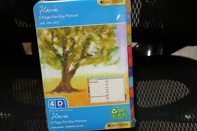 2012 DayTimer Flavia 2 Page Per Day Planner Refill Pages Size 4 5 x 8 09607
