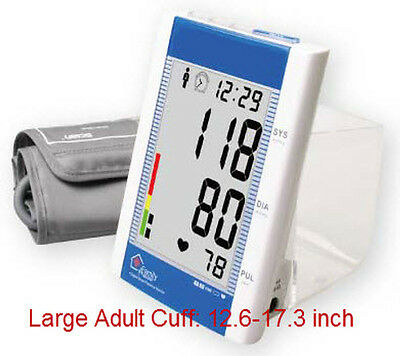 Ld582 Arm Blood Pressure Monitor W/Clock Ambient Thermometer Large Adult Cuffs