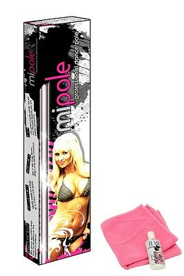 MiPole Dance Pole Kit Portable Fitness Mypole + Mighty Grip + Pink Cloth