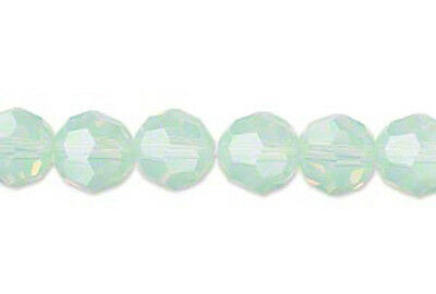 9f97f780a 6 CHRYSOLITE OPAL Swarovski Crystal 5000 Faceted Round Beads 8MM ...