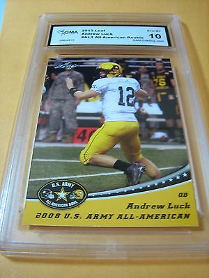 Andrew Luck Colts 2012 Leaf U.s. Army All-American Bowl Rookie Rc #al1 Graded 10