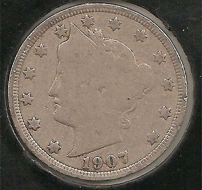1907 GOOD-VERY GOOD Liberty Nickel #1