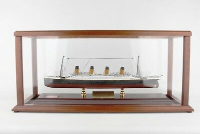 RMS Titanic Signed By Millvina Dean Desk Top Display 1/500 Wood ES Model Ship