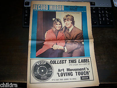 Record Mirror # 397 1968 Herman's Hermits Walker Brothers Mary Hopkin