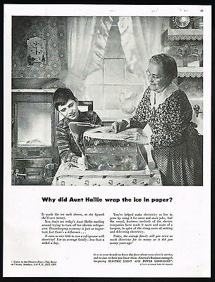 1948 Electric Light Power Companies Electricity Cost Ice Covering Print Ad