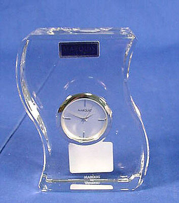 Marquis By Waterford WAVE Table Clock NIB!